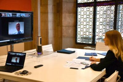 La consellera d'Acció Exterior i Govern Obert, Victòria Alsina, participa a la Comissió d'Internacionalització de les cambres catalanes